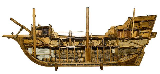 Model of a merchantman ship.