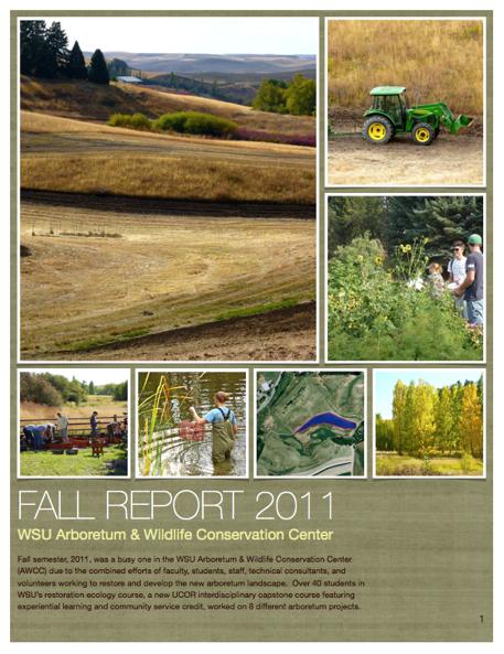 WSU Arboretum Fall Report 2011